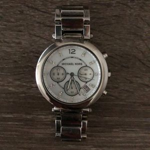 Michael Kors Silver Oversized Watch